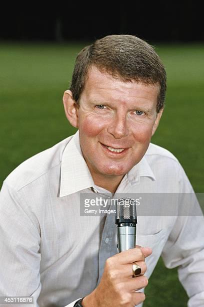 TV and Radio commentator John Motson pictured circa 1985
