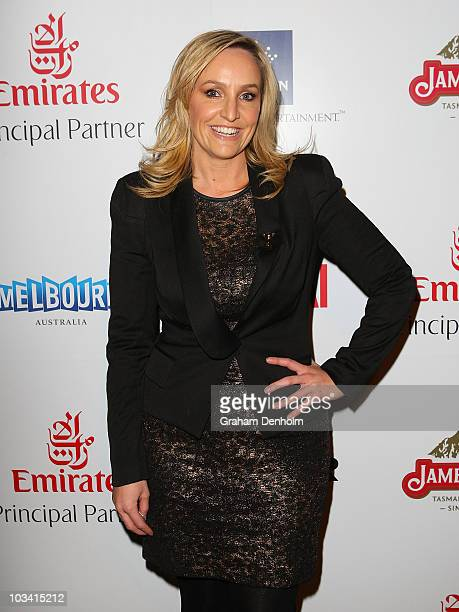 TV and radio personality Fifi Box attends the Melbourne Cup Carnival Launch at The Ivy on August 17 2010 in Sydney Australia The 2010 Melbourne Cup...