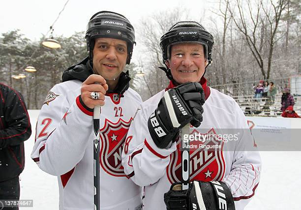 And radio personality George Stroumboulopoulos with Governor General of Canada pose for a photo during the 2012 NHL All-Star Game - H.E.R.O.S....