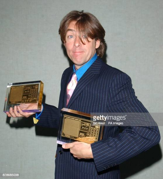 And radio presenter Jonathan Ross after he received both the highly acclaimed 2002 Award and the Entertainment Award during the Sony Radio Awards...