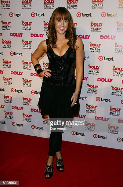 TV and radio presenter Lizzy Lovette arrives for the third annual Dolly Teen Choice Awards at Luna Park on August 13 2008 in Sydney Australia