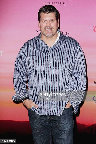 TV and radio sportscaster Mark Schlereth attends ESPN the Party at WestWorld of Scottsdale on January 30 2015 in Scottsdale Arizona