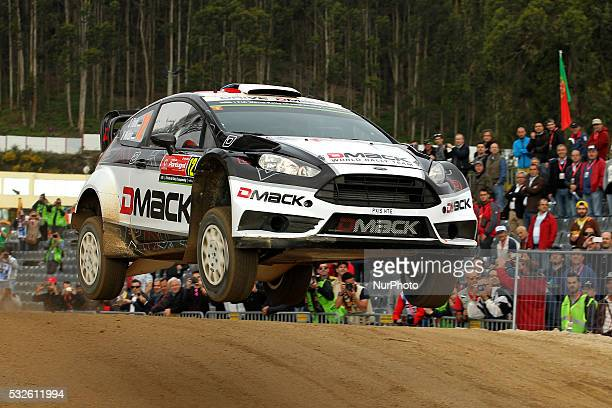 OTT TANAK and RAIGO MOLDER in FORD FIESTA RS WRC of team DMACK WORLD RALLY TEAM in action during the shakedow of the WRC Vodafone Rally Portugal 2016...