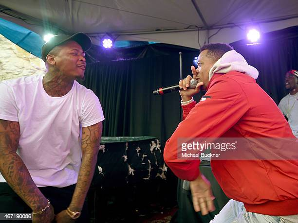and rapper RJ performs at the Axe/Spin House during the 2015 SXSW Music Fim Interactive Festival at Cheer Up Charlie's on March 21 2015 in Austin...