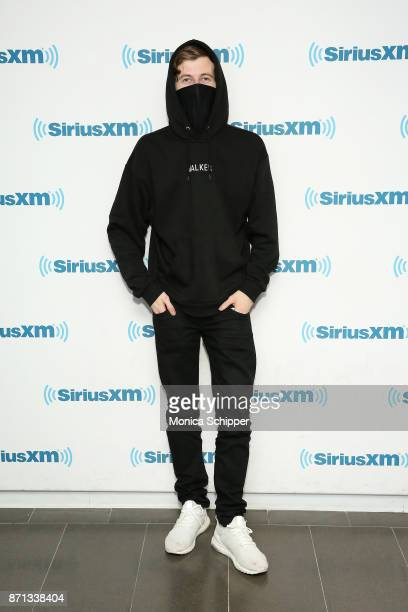 DJ and record producer Alan Walker visits SiriusXM Studios on November 7 2017 in New York City