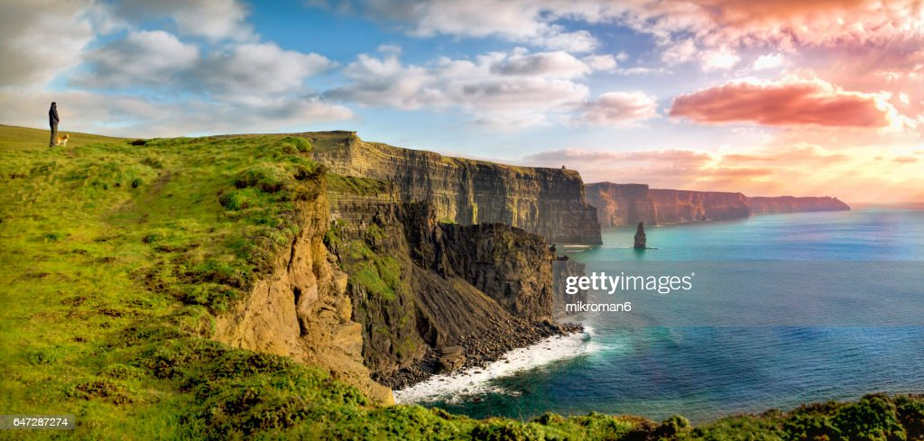 HQ and Res. Panorama of  Cliffs Of Moher, Ireland : Stock Photo