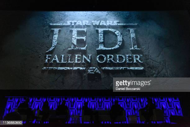 EA and Respawn Entertainment reveal the Star Wars Jedi Fallen Order video game during Star Wars Celebration at McCormick Place Convention Center on...