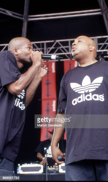 DMC and Rev Run of Run DMC perform on stage at Respect Festival Finsbury Park London 21st July 2001