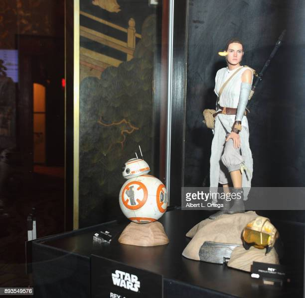 BB8 and Rey Figures on display from Sideshow Collectibles at the Opening Night Celebration Of Walt Disney Pictures And Lucasfilm's 'Star Wars The...