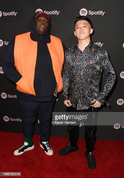 and Rich Brian attend Spotify Best New Artist 2019 event at Hammer Museum on February 7 2019 in Los Angeles California