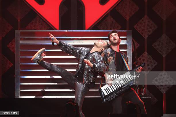 MAX and Ryan Siegel perform onstage during KISS 108's Jingle Ball 2017 presented by Capital One at TD Garden on December 10 2017 in Boston Mass