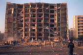 U S And Saudi Military Personnel Survey The Damage To Khobar Towers