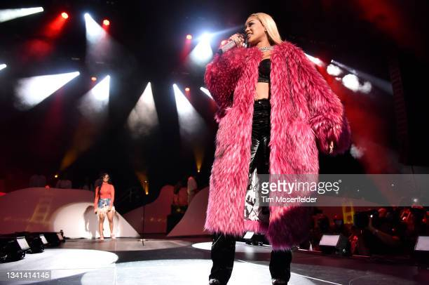 And Saweetie perform during H.E.R.'s Lights On festival bay area at Concord Pavilion on September 19, 2021 in Concord, California.