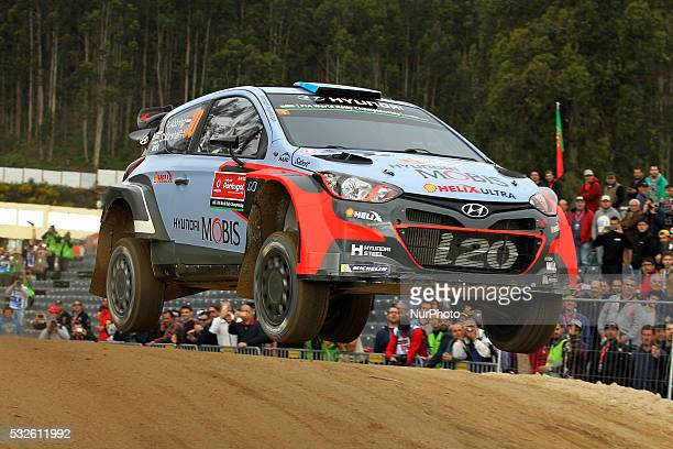ABBRING and SEBASTIEN MARSHALL in HYUNDAI i20 WRC of team HYUNDAI MOTORSPORT N in action during the shakedow of the WRC Vodafone Rally Portugal 2016...