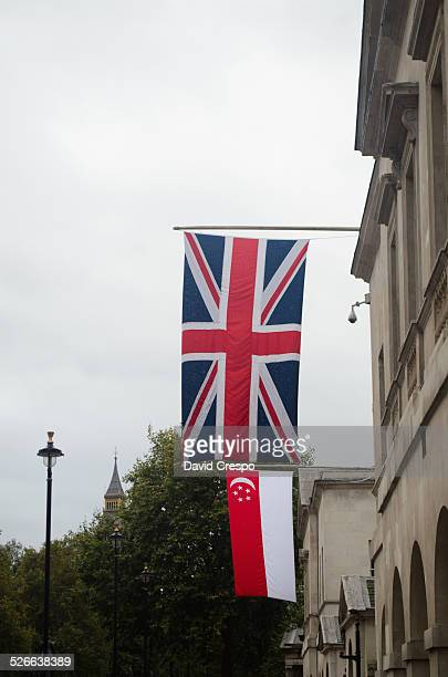 UK and Singapore flags