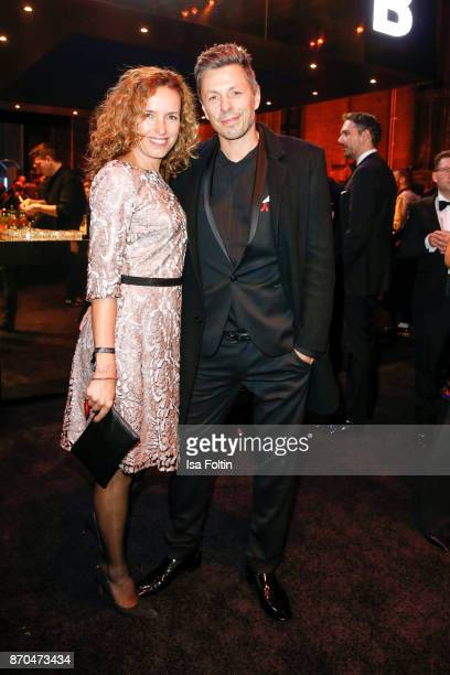 DJ and singer Michi Beck and his wife Ulrike Fleischer attend the aftershow party during during the 24th Opera Gala at Deutsche Oper Berlin on...