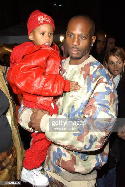 DMX and son during World Premiere of Cradle 2 The Grave at Ziegfeld Theater in New York New York United States