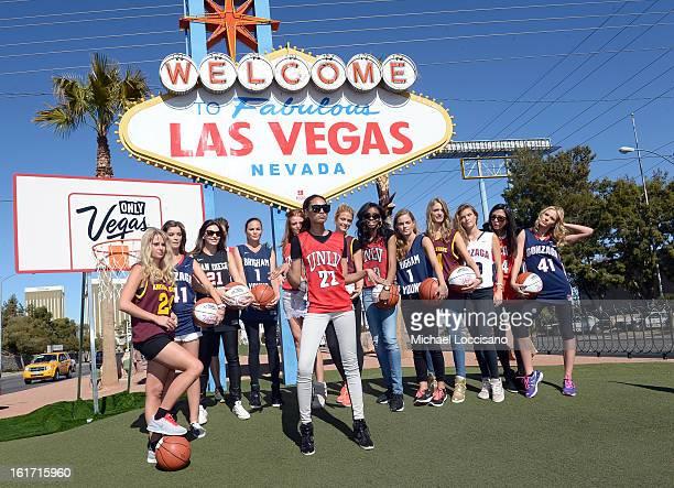 LVCVA and Sports Illustrated Models Genevieve Morton Natasha Barnard Alyssa Miller Chrissy Teigen Cintia Dicker Ariel Meredith Kate Bock Adaora...