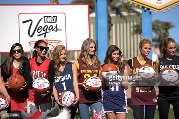 LVCVA and Sports Illustrated Models Jessica Gomes Ariel Meredith Jessica Perez Julie Henderson Natasha Barnard Kate Bock and Hannah Davis support the...