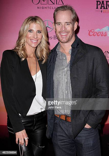and sportscaster Joe Buck attend ESPN the Party at WestWorld of Scottsdale on January 30 2015 in Scottsdale Arizona