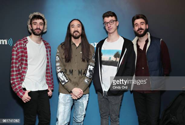 AJR and Steve Aoki visit the SiriusXM Studios on May 23 2018 in New York City