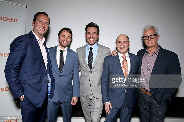 AMC and Sundance President and General Manager Charlie Collier actor Vincent Kartheiser actor Jon Hamm director/writer/executive producer Matthew...