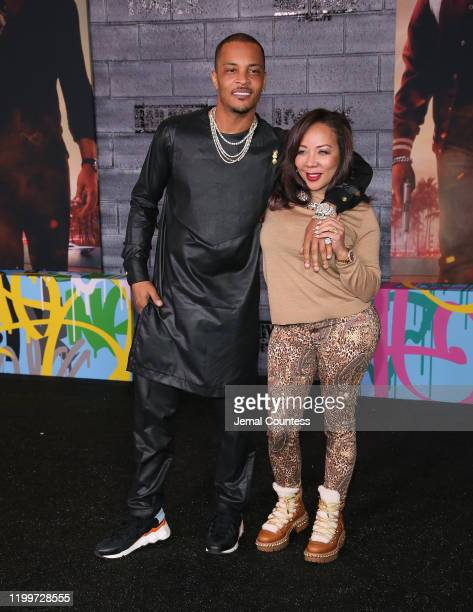 """And Tameka Dianne """"Tiny"""" Harris attend the World Premiere of """"Bad Boys for Life"""" at TCL Chinese Theatre on January 14, 2020 in Hollywood, California."""