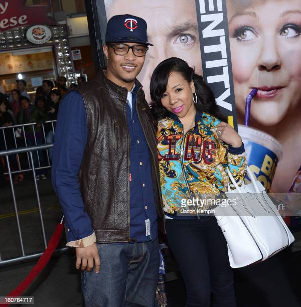 """And Tameka 'Tiny' Cottle attend the premiere Of Universal Pictures' """"Identity Thief"""" on February 4, 2013 in Westwood, California."""