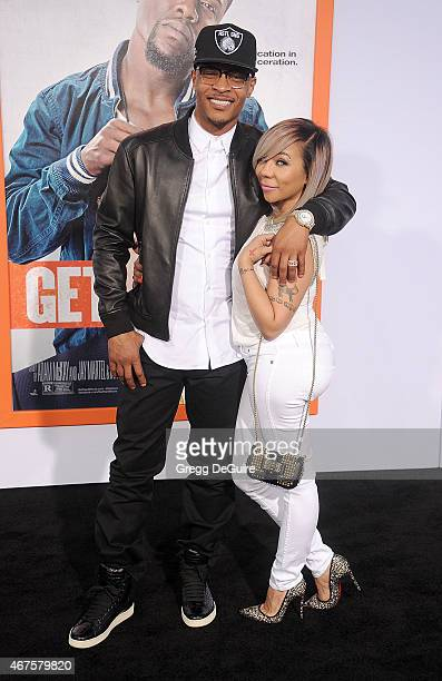 """And Tameka """"Tiny"""" Cottle-Harris arrive at the Los Angeles premiere of """"Get Hard"""" at TCL Chinese Theatre IMAX on March 25, 2015 in Hollywood,..."""