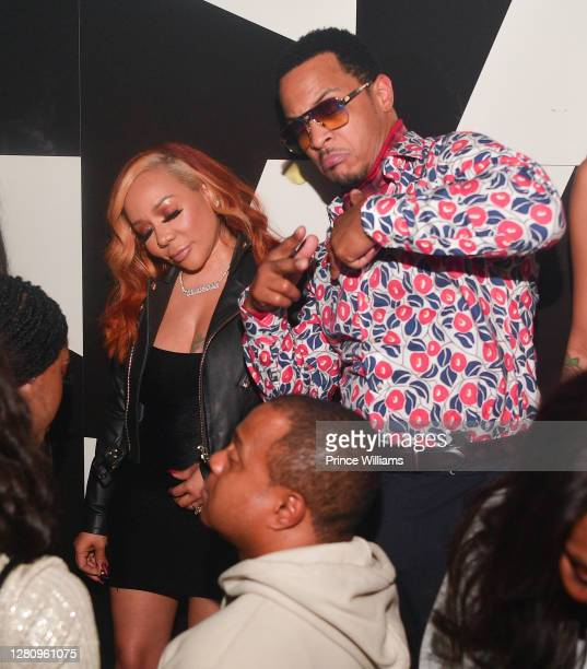 """And Tameka 'Tiny' Harris attend """"LIBRA"""" Album release Party at Gold Room on October 16, 2020 in Atlanta, Georgia."""