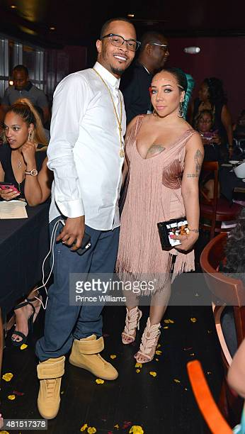 "And Tameka ""Tiny"" Harris attend ""Tiny"" Tameka Harris Celebrity Birthday Affair >> at Scales 925 Restaurant on July 14, 2015 in Atlanta, Georgia."