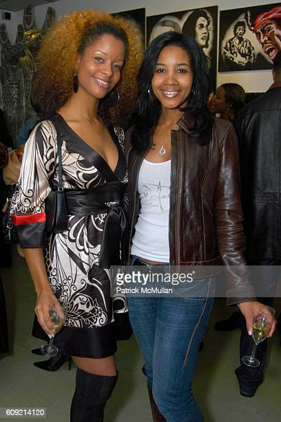 and Tasha Phelps attend Olympic Artist Jesse Raudales Peace for the Children Art Show at Los Angeles on February 9 2007