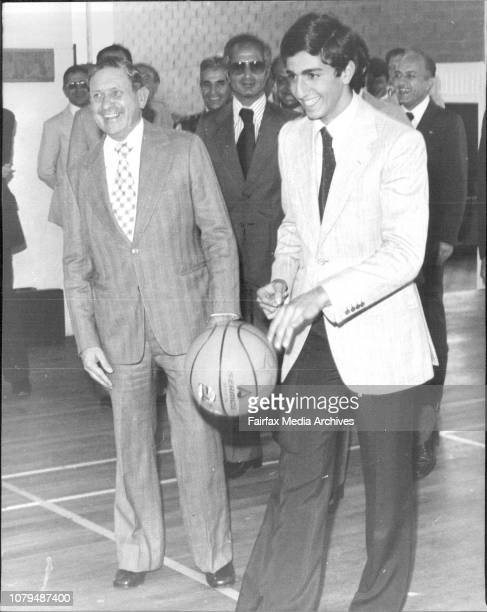 ***** and that's when the official Protocol was over and Prince got in touch with a basketball Mr Ken Booth NSW Minister looks onHis Imperial...