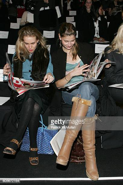 and The Daily attend Charles Nolan Fall 2006 Fashion Show at The Tent at Bryant Park on February 7 2006 in New York