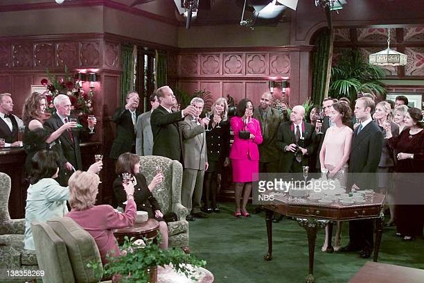FRASIER And the Dish Ran Away with the Spoon Part 1 Episode 1 Pictured Peri Gilpin as Roz Doyle John Mahoney as Martin Crane Kelsey Grammer as Dr...