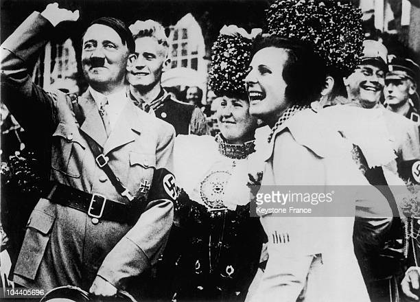 HITLER and the German film maker Leni RIEFENSTAHL Being Adolf HITLER's favorite film maker she became the official film maker of the Reich This...