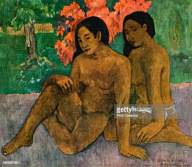'And the Gold of their Bodies' 1901 Found in the collection of the Musee d'Orsay Paris France Plate taken from Gauguin by John Rewald published by...