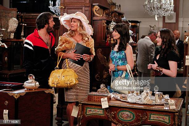 And The Hidden Stash Oleg and Sophie run into Caroline Channing and Max Black at the Channing estate auction on the second season premiere of 2 BROKE...