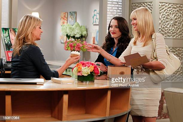 And The Pearl Necklace Max Black and Caroline Channing give the receptionist at Martha Stewart's office a cupcake on the second season premiere of 2...