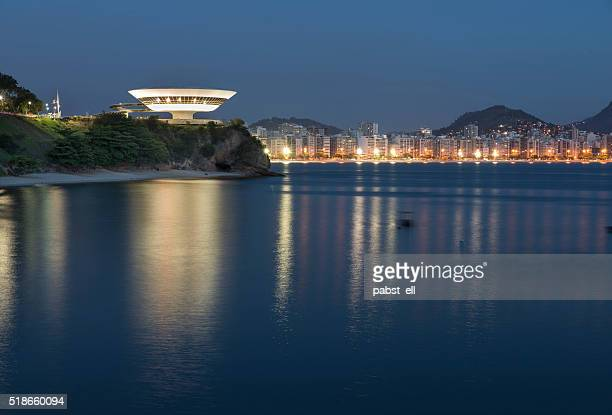mac and the shore of niteroi - niteroi stock pictures, royalty-free photos & images