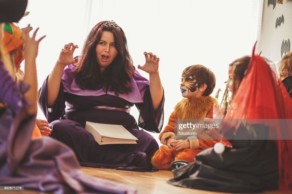 And then comes the scary creature... : Stock Photo