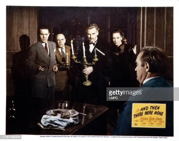And Then There Were None lobbycard from left Louis Hayward Roland Young Walter Huston June Duprez Barry Fitzgerald 1945