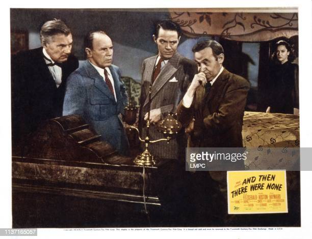 And Then There Were None lobbycard from left Walter Huston Roland Young Louis Hayward Barry Fitzgerald June Duprez 1945