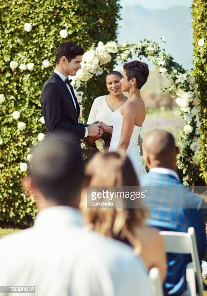 """and then they said """"i do"""" - wedding ceremony stock pictures, royalty-free photos & images"""