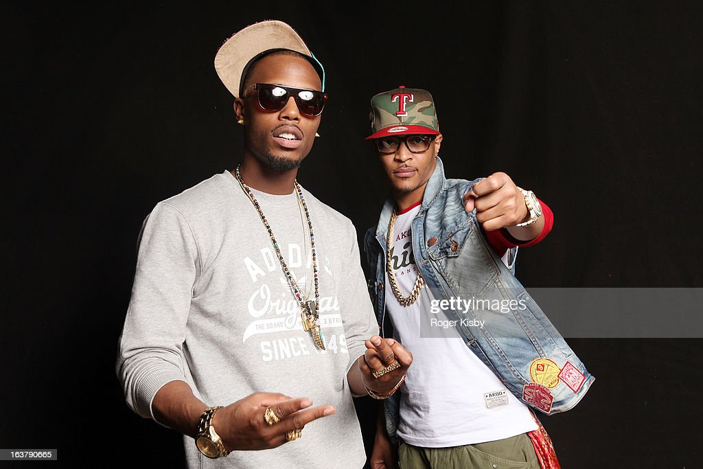 B.O.B. and T.I. pose for a portrait at The Fader Fort presented by Converse during SXSW on March 15, 2013 in Austin, Texas.