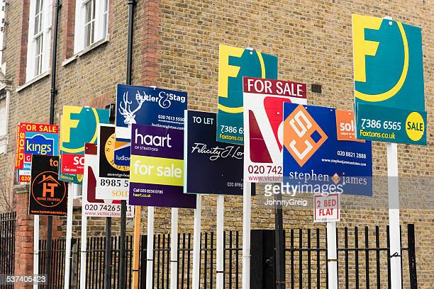 for sale and to let signs - consumerism stock pictures, royalty-free photos & images