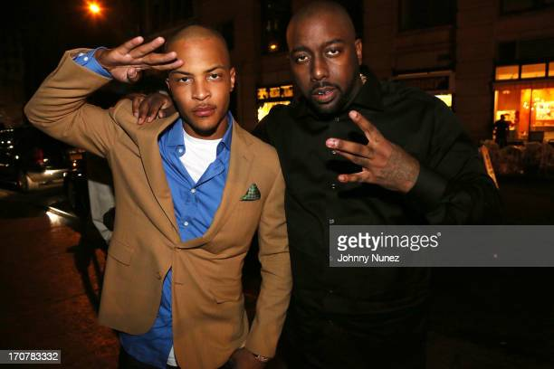 TI and Trae Tha Truth attend The 40/40 Club 10 Year Anniversary Party at 40 / 40 Club on June 17 2013 in New York City