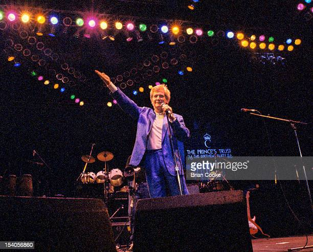 DJ and TV presenter Mike Smith appearing on stage at The Prince's Trust 10th Birthday Party at Wembley Arena London United Kingdom on 20th June 1986
