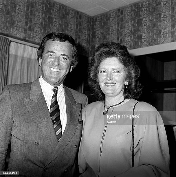 DJ and TV Presenter Terry Wogan and wife Helen photographed in April 1986