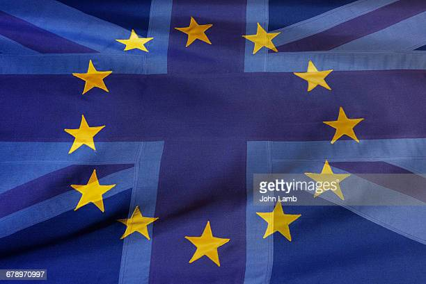 eu and uk flags-brexit - european union flag stock pictures, royalty-free photos & images